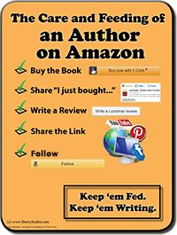 Amazon-specific checklist, infographic, and article of things you can do to help your favorite author - The Care and Feeding of an Author on Amazon - http://www.sherrysnider.com/the-care-and-feeding-of-an-author-on-amazon/