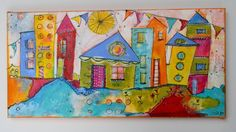 Celebrate Inn funky whimsical house collection 10 x 20 door JodiOhl