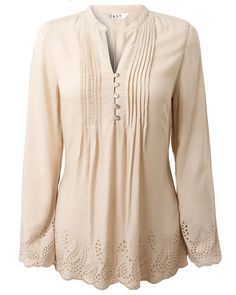 Soft Feminine Clothing | Home  Clothing  Tops  Embroidered Trim Tunic