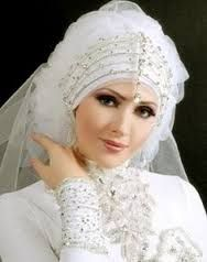 Beautiful Wedding Headpiece  Bridal Hijab