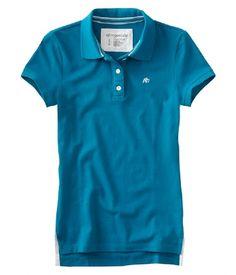 84a17765 Aeropostale women's Uniform A87 3 button polo shirt - Style 4442