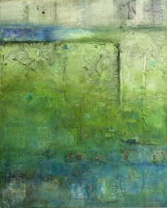 """CLAUDIA MARSEILLE, While out walking 2010, encaustic on panel, 60"""" x 48"""""""