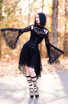 "theblackmetalbarbie: ""Photography: Through My Lens by Nicole Smith Model: The Black Metal Barbie Dress: Gothlolibeauty/ Dark in Love Shoes: Ellie Shoes Corset: "" Lolita Fashion, Grunge Fashion, Gothic Fashion, Steampunk Fashion, Emo Fashion, Style Fashion, Sexy Lace Dress, Goth Dress, Gothic Chic"