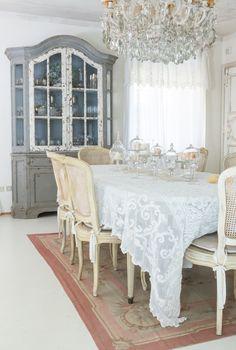 Villa Respiro Casa Shabby Chic Mobili Decapati Alzatine in Vetro