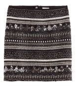 Check this out! Short chiffon skirt with beaded and sequined embroidery at front and concealed zip at back. Lined. - Visit hm.com to see more.