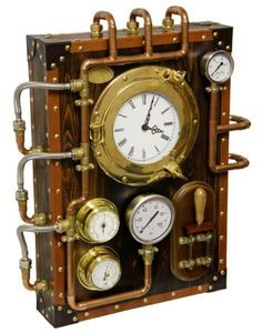 Wall Clock BernisCervera (Industrial Steampunk old and vintage style) on Etsy… Casa Steampunk, Steampunk Shop, Steampunk Accessoires, Steampunk Gadgets, Steampunk Clock, Steampunk Design, Steampunk Costume, Steampunk Fashion, Steampunk Bedroom