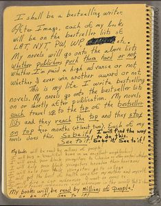 Handwritten notes on inside cover of one of Octavia E. Butler's commonplace books, Octavia E. The Huntington Library, Art Collections, and Botanical Gardens. © Estate of Octavia E. Writing Quotes, Fiction Writing, Writing Advice, Science Fiction, Fiction Novels, Octavia E Butler, Commonplace Book, Journal Entries, Inspirational Message