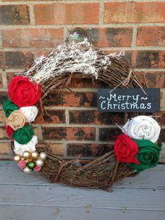 Christmas in July Burlap Merry Christmas Wreath