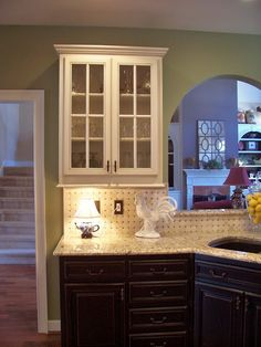 backsplash and countertops - different but I like it!