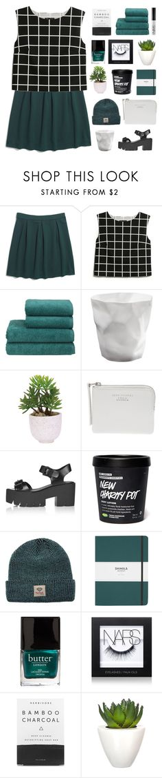 """– your wifey say i'm looking like a whole snack"" by neutral-bunny ❤ liked on Polyvore featuring Madewell, MANGO, Christy, Lux-Art Silks, Acne Studios, Topshop, Diamond Supply Co., Shinola, Butter London and NARS Cosmetics"