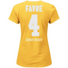 Green Bay Packers Women's Favre Sparkle T-Shirt at the Packers Pro Shop http://www.packersproshop.com/sku/9197023100/