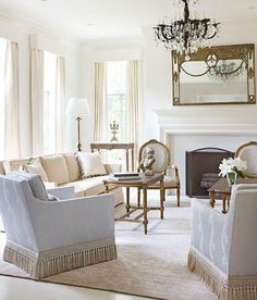 "Bright, White, and Inviting Family Home | Traditional Home Paint (""Greek Villa""…"