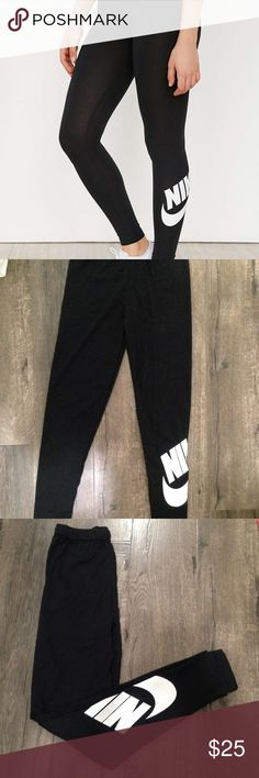 🚨LAST ONE🚨 NWOT NIKE LEGGINGS NEW NIKE LEGGINGS SUPER COMFY AND STRETCHY, NOT SEE THROUGH. SIZE M. DOESNT HAVE NIKE TAG.  Check my other listing Nike, adidas, forever 21, champion, converse , triangl , bikinis, hollister, American eagle, brandy Melville, Lacoste, too faced, Mac, clinique,Aeropostale, gap,Calvin Klein,ethika Nike Pants Leggings