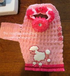 Happy Saturday!  *Ü* So my friend Sue McMahon recently asked me if I would crochet a sweater for her daughter's dog, Lizzie.  She said sh...