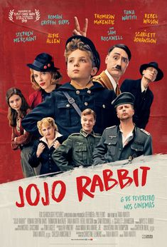 Jojo is a lonely German boy who discovers that his single mother is hiding a Jewish girl in their attic. Aided only by his imaginary friend -- Adolf Hitler -- Jojo must confront his blind nationalism as World War II continues to rage on Scarlett Johansson, Iconic Movie Posters, Iconic Movies, Popular Movies, Oscar Movies, Movie List, I Movie, Satire, Movies To Watch