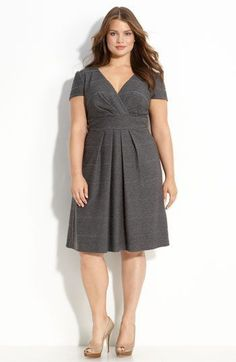 A perfect dress for my shape, I love the style and the colour. Eliza J Textured Knit Dress Vestidos Plus Size, Plus Size Dresses, Plus Size Outfits, Curvy Fashion, Plus Size Fashion, Girl Fashion, Knit Dress, Dress Up, Dress Casual