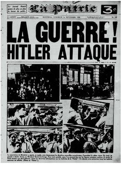 Journaux Bulletins, World War Ii, Shit Happens, Retro, Quebec, 1940s, Movie Posters, Forget, The Calm