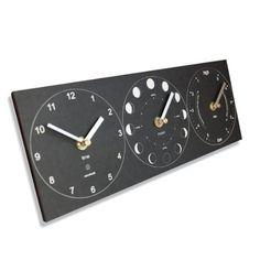 Recycled Moon, Tide  Time Clock - Black  Price : £39.95 http://www.eco-project.co.uk/Recycled-Moon-Tide-Time-Clock/dp/B004X1HWQ2