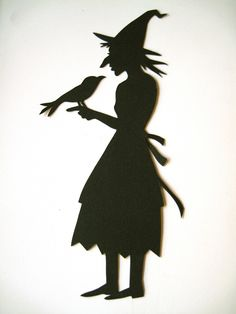 Witch and Familiar Silhouette | by TagTeamTompkins