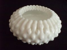 Rare Fenton Ribbon Candy bowl 3730MI FREE SHIP $17.00 OBO ((OOOHHHH YYEEESSSS!!! WE ALL KNOW I LOVE FENTON GLASS / MILK GLASS / DEPRESSION GLASS!!! ITZ ONE OF THOSE GREAT BEAUTIES... I WANT I WANT!!!)) I love how the top of the bowl looks like the folds of old-fashioned ribbon candy!!! This bowl is just Fantastic!!!