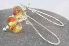 Amber earrings ~ long dangle beaded earrings ~ summer jewellery ~ drop earrings ~ amber jewellery ~ jewellery ~ affordable jewellery by AmySquaredJewellery on Etsy https://www.etsy.com/uk/listing/229037501/amber-earrings-long-dangle-beaded