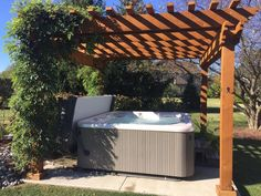 A pergola is a great hot tub privacy solution. Learn all about how to create home hot tub privacy. Hot Tub Pergola, Hot Tub Deck, Hot Tub Backyard, Deck With Pergola, Pergola Ideas, Backyard Ideas, Hot Tub Privacy, Retreat House, Backyard Retreat