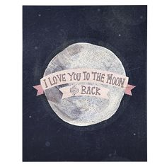 I Love You to the Moon and Back decal, a Yellow Button Studio design