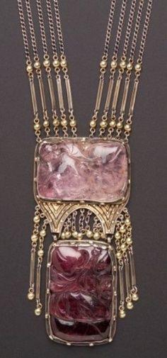 Art Deco Violet Necklace