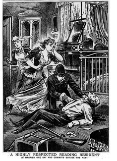 """""""""""Married One Day; Commits Suicide The Next"""" Sounds like the poor chap had a rather traumatic wedding night. Victorian Artwork, Victorian Era, Vintage Drawing, Vintage Art, Victorian Illustration, Illustration Art, Safari, Police News, Old Newspaper"""