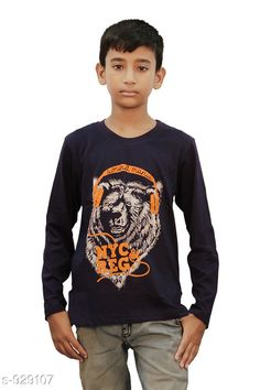 Checkout this latest Tshirts & Polos Product Name: *Casual Cotton Knitted T-Shirt * Fabric: Cotton Sleeve Length: Long Sleeves Pattern: Printed Multipack: Single Sizes:  2-3 Years, 3-4 Years Country of Origin: India Easy Returns Available In Case Of Any Issue   Catalog Rating: ★4.3 (398)  Catalog Name: Boy's Casual Cotton T-Shirt Vol 3 CatalogID_109334 C59-SC1173 Code: 081-929107-843
