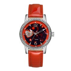 Time100 Constellation-Cancer Genuine Leather Strap Automatic Mechanical Ladies Watch no.W80050L.04A -- Check this awesome image