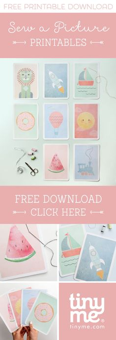 Teach your kids how to sew with our Sew a Picture Free Printables! | Tinyme Blog