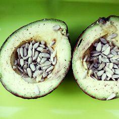 Salty Sunflower Avocado | 9 Ways to Snack on Fiber-Rich Avocado | POPSUGAR Fitness