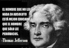 Dura crítica a la prensa de Thomas Jefferson #citas #quotes