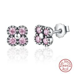 Fashion women Jewelry  925 Sterling Silver Stud Earrings //Price: $US $3.97 & FREE Shipping //     #cosmetics