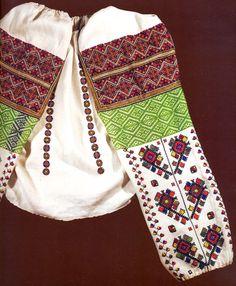 FolkCostume&Embroidery: Embroidery of Zastawna county, Cherniwtsi oblast, Bukovyna, Ukraine Polish Embroidery, Folk Embroidery, Cross Stitch Embroidery, Embroidery Patterns, Machine Embroidery, Ukraine, Folk Fashion, Ethnic Fashion, Ukrainian Art