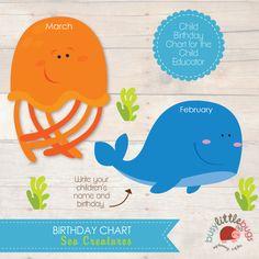 Busy-Little-Bugs-Sea-Creatures-Birthday-Chart-for-teachers-child-educators.jpg (570×570)