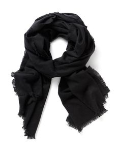 wool Fringed Scarf in Black Fringe Scarf, Womens Scarves, My Style, Clothes, Wool, Country, Black, Fashion, Outfits