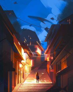Environment Concept, Environment Design, Game Art, Illustrator, Japon Illustration, Dream Illustration, Anime Scenery, Aesthetic Art, Oeuvre D'art