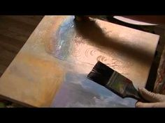 Acrylmalerei, Tusche, Farben, Strukturen.  Acrylic Painting:  Colour, Structure Paste, Inc - YouTube