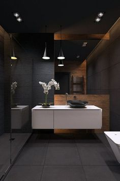 Black Bathroom Tile (3)