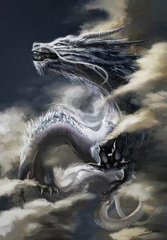 White dragon by Skyrawathi.devian on The post White dragon by Skyrawathi.devian on appeared first on hintergrundbilder. Chinese Dragon Tattoos, Chinese Dragon Art, Cool Dragons, Dragon Artwork, Dragon Tattoo Designs, White Dragon, Mythological Creatures, Magical Creatures, Deviantart