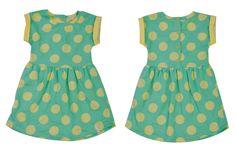 Vestido lunares para bebé nena