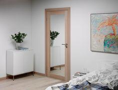 Unique speildør i hvitpigmentert eik fra Swedoor Karma, Oversized Mirror, Doors, Unique, Interior, Furniture, Design, Home Decor, Bathroom