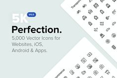 5,000 Perfect Icons. *NEW v4.0 by Icon54 on @creativemarket