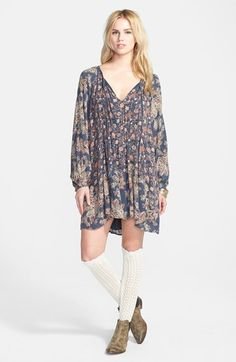 Free People 'Lucky Loosie' Swing Dress available at #Nordstrom @gauhaut