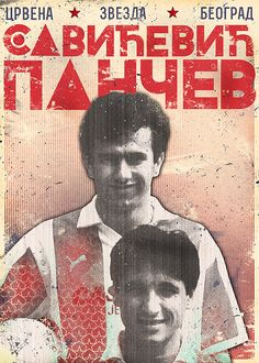Savićević and Pančev by Marija Marković Football Icon, Football And Basketball, Soccer Players, Red Star Belgrade, Soccer Poster, Soccer Boots, Graphic Design Posters, Legends, Behance
