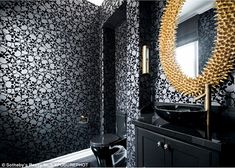 Unique: The skull print in the bathroom added an unique twist...