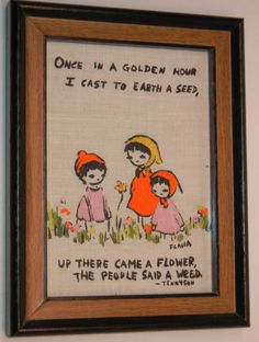 Adorable Sewn Wall Hanging with Lord Alfred by RetroPickins, $9.95