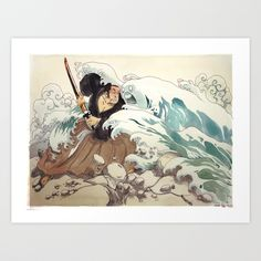 Tsunami Art Print by Bouletcorp | Society6